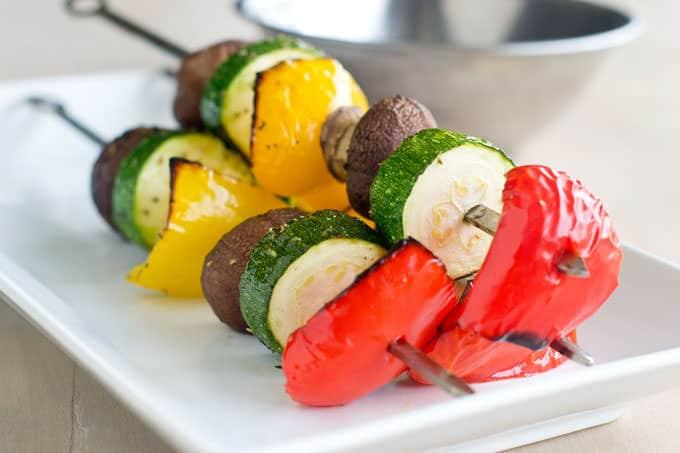 Marinated Vegetable Skewers