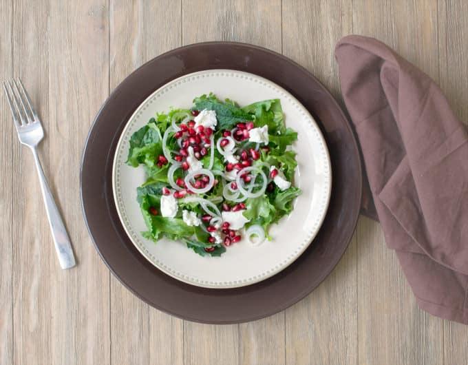 Vidalia Onion Salad with Pomegranate and Goat Cheese