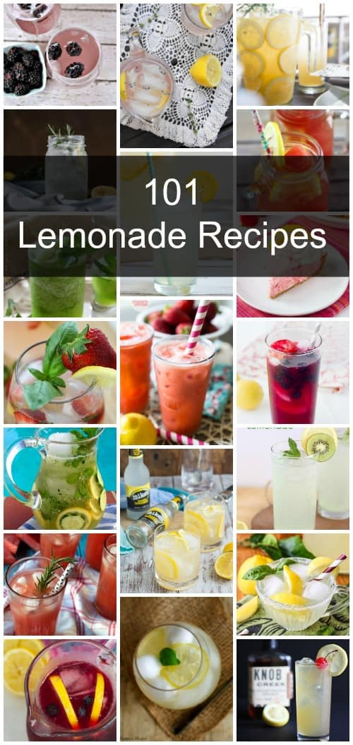 101 Lemonade Recipes Collage