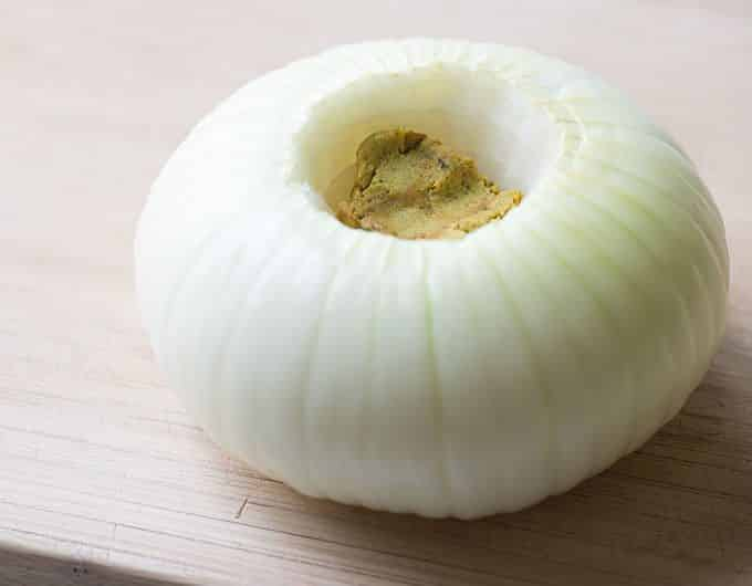 Microwaved Vidalia onion with bouillon