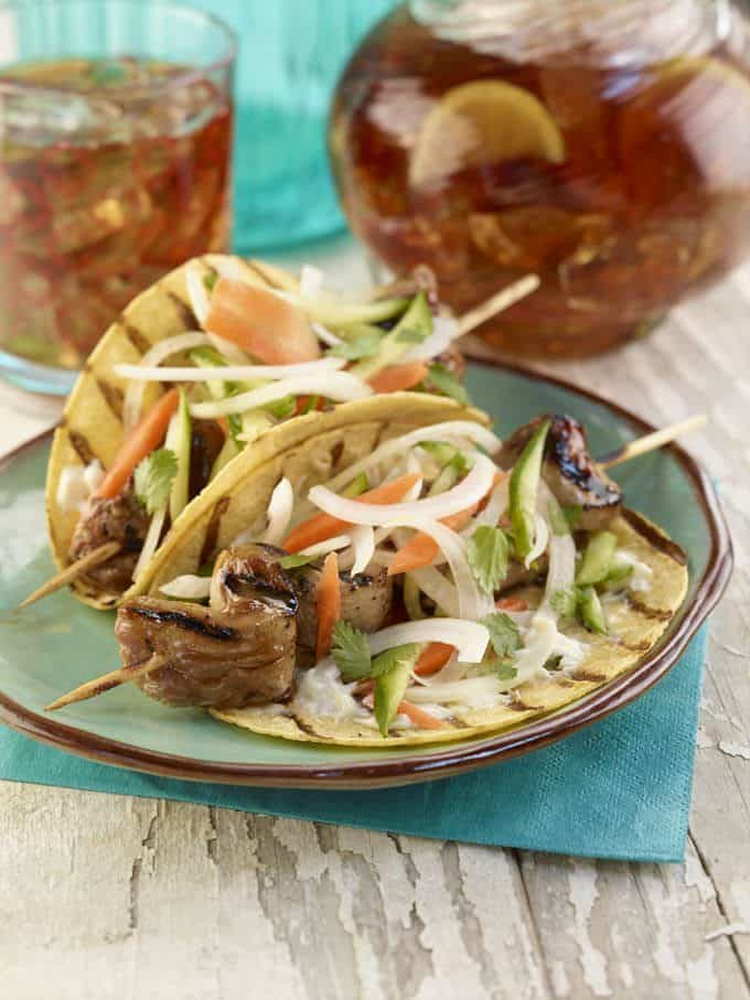 Banh Mì Tacos with Vidalia Onion Slaw