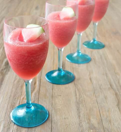Watermelon Lemonade Wine Slushie