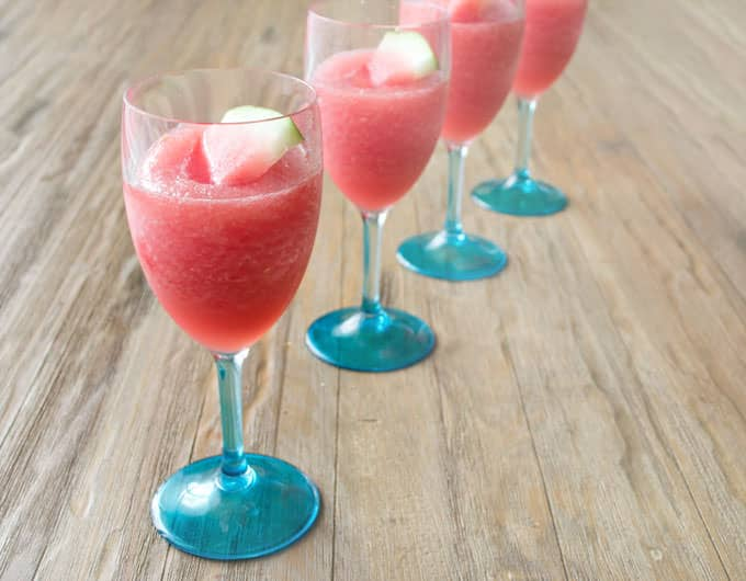 Watermelon Lemonade Wine Slushie