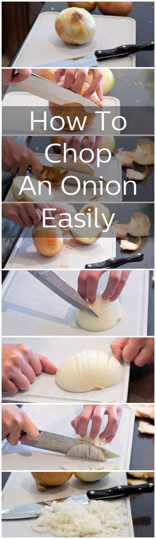 Step by step, the easiest way to chop an onion