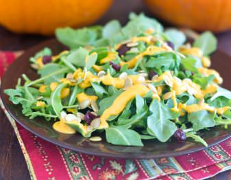 Salad with Pepitas and Pumpkin Dressing