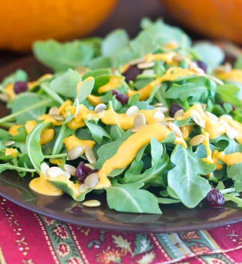 Salad with Pepitas and Pumpkin Dressing