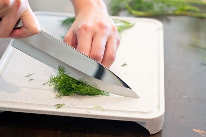 Using a chef's knife