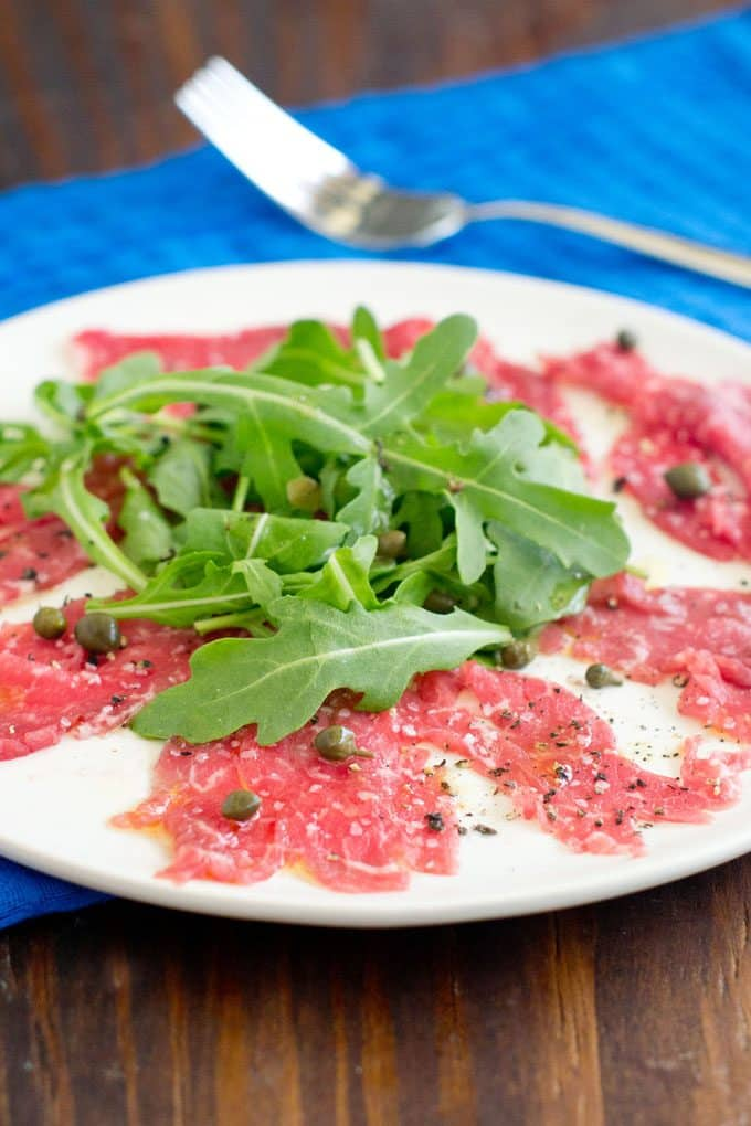 ... knife because today we're tackling the Italian classic Beef Carpaccio