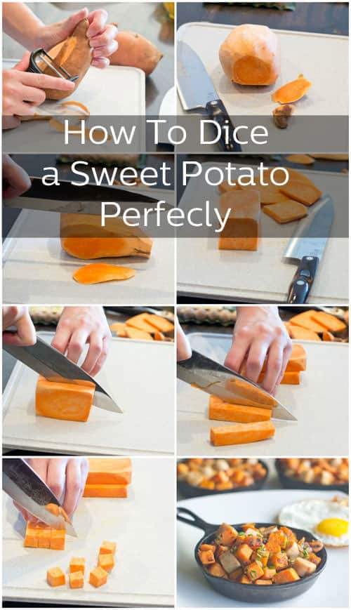 Learn how to dice a sweet potato (or any potato!) into perfect squares.