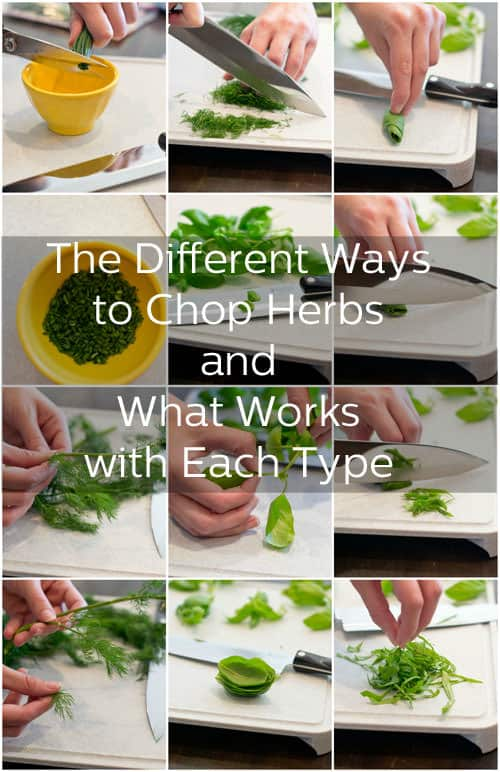 Chopped herbs can add a whole new level of flavor to your recipes. Find out how to cut different kinds of herbs with our handy guide.