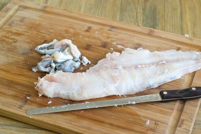 Skinless fish fillet