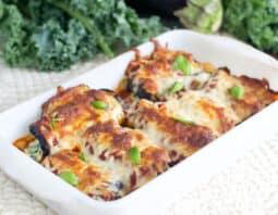 Healthy Kale & Ricotta Stuffed Eggplant Rollatini
