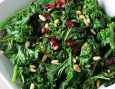 Kale can be a bit tough to eat raw in salads. But if you know how to pamper it and prepare it, it becomes the perfect salad green. Learn how here.