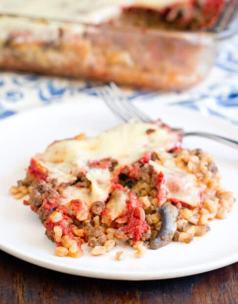 Skip the pasta and make bolognese with farro. This recipe is so delicious and it's healthy too.