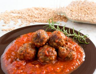 Get our recipe for meatballs that use cooked farro in place of some of the meat. They're delicious and healthy too!