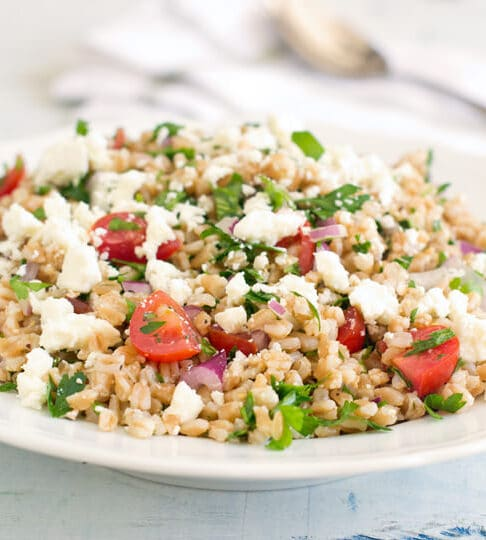 Learn how to make tabouleh using farro instead of bulgur. It has more texture and is truly delicious.