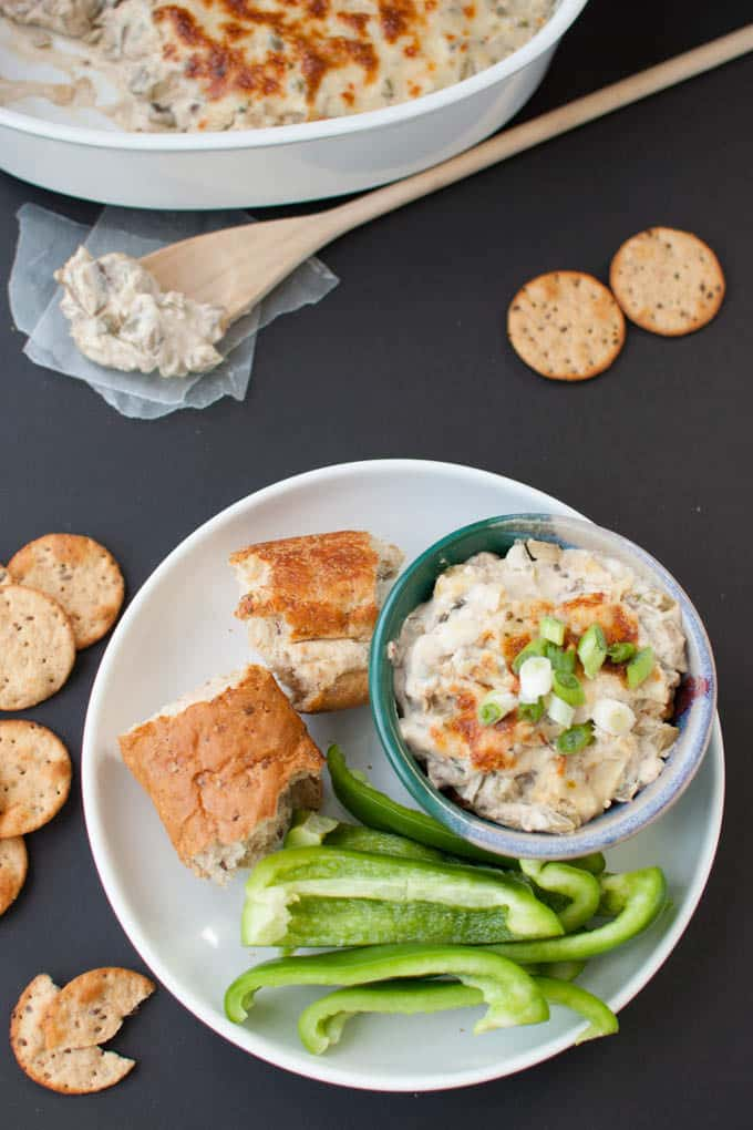 This slow cooker philly cheesesteak dip shows you how to get the ooey-gooey goodness of cheesy dips without the guilt.