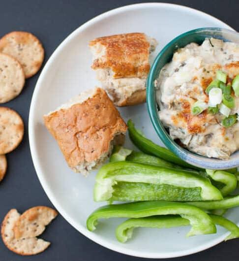 Lighter Philly Cheesesteak Slow Cooker Dip