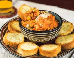 Here's a new spin on pizza. The slow cooker lets you fix this dip and forget it until game time.