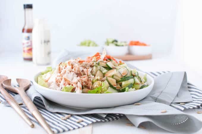 Learn how to make a healthy and delicious salad with all the flavor of your favorite chicken wings.
