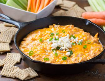Learn how to make this delicious Buffalo Chicken Dip with a few small tweaks that make it healthier.