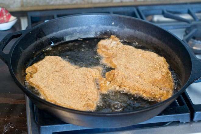 frying chicken cutlets