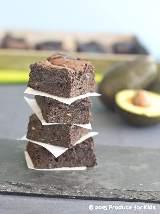 Avocado takes the place of butter in these decadent, fudgy, dark chocolate brownies.