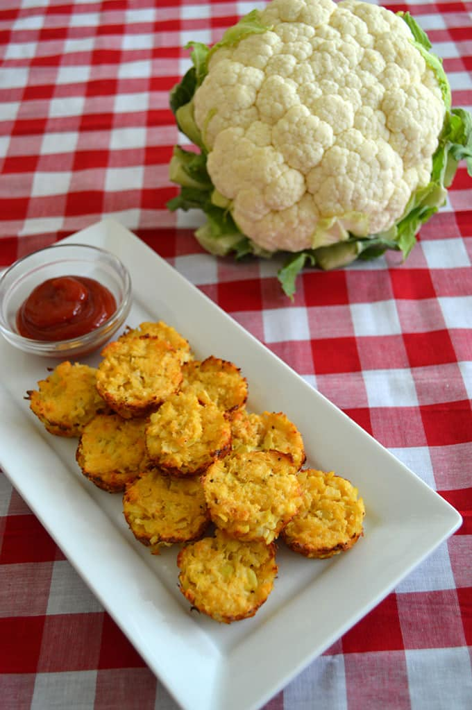 Who loves tater tots? We do! So today we're switching things up and using cauliflower rice and cheese in our tots. Oh yeah.