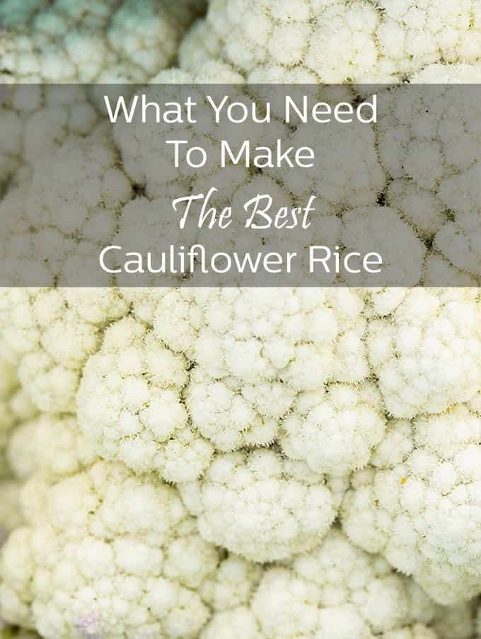 Get all the tools you need to make healthy and delicious cauliflower rice.