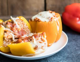 Cauliflower Rice Stuffed Peppers