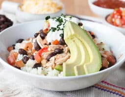 Slow Cooker Burrito Bowl