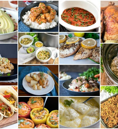 14 Slow Cooker Chicken Dinners