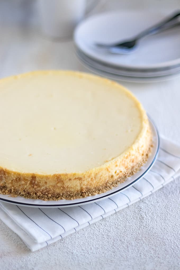 You can never go wrong with a Classic Cheesecake for dessert.