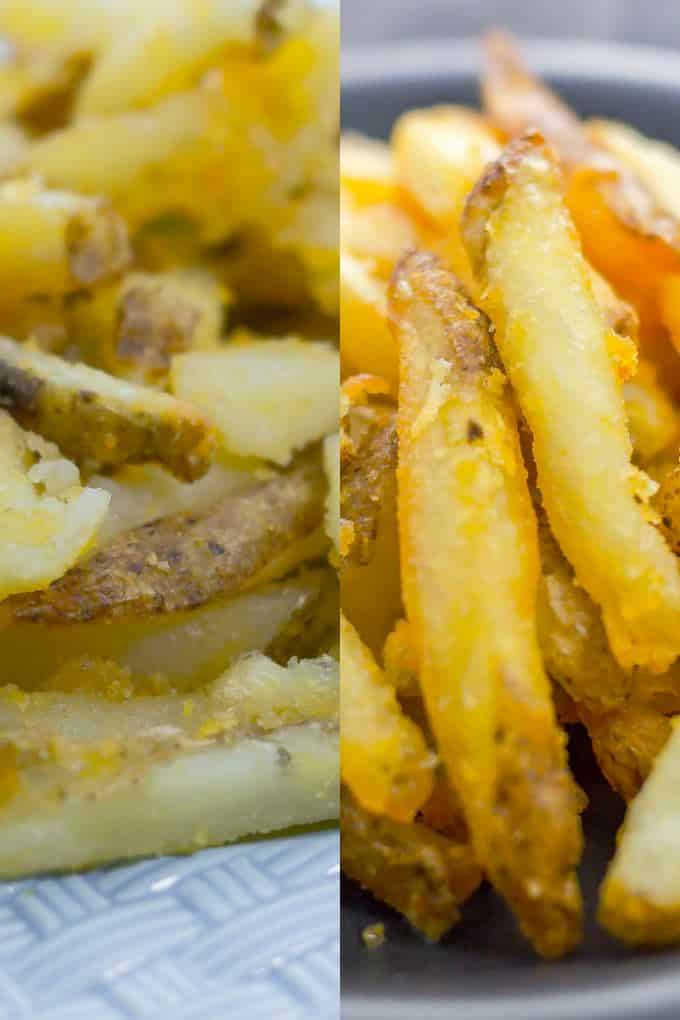 We're comparing deep-fried French fries and oven-baked so you can easily decide which ones to make.