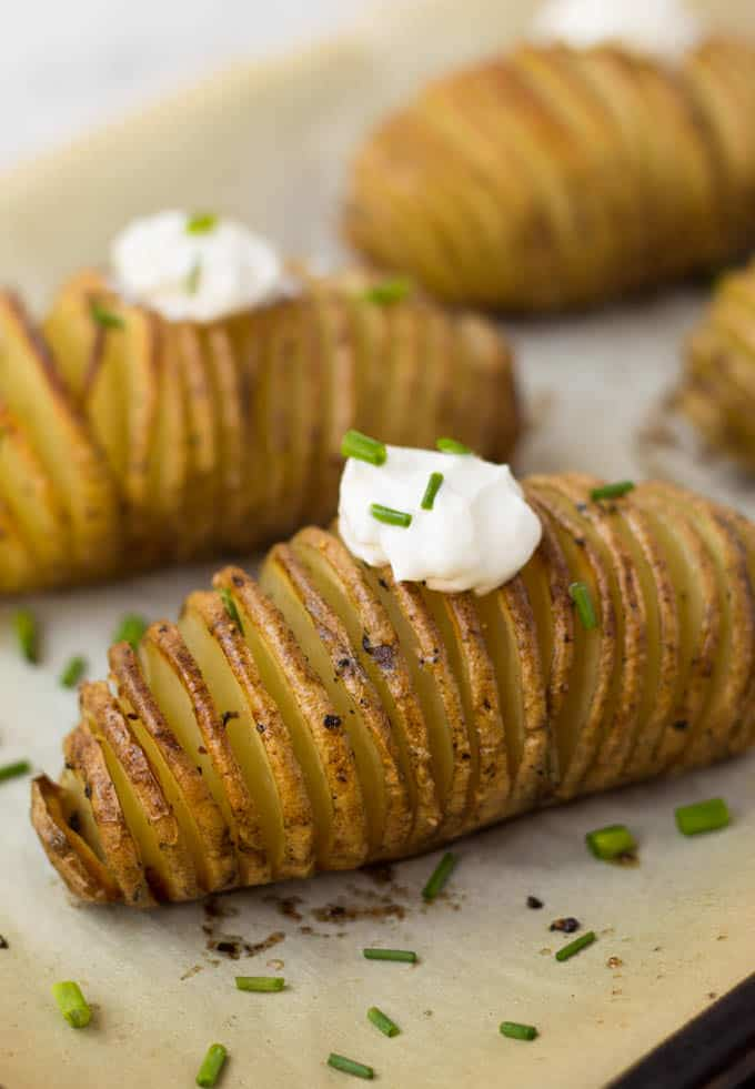 Hasselback potatoes are the star of any dinner or get-together and are so easy to make.