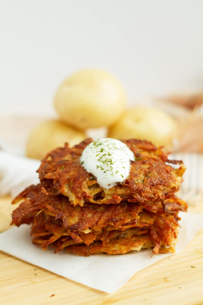 Potato latkes are traditional for Hanukkah and are the perfect comfort food for any other time of the year.