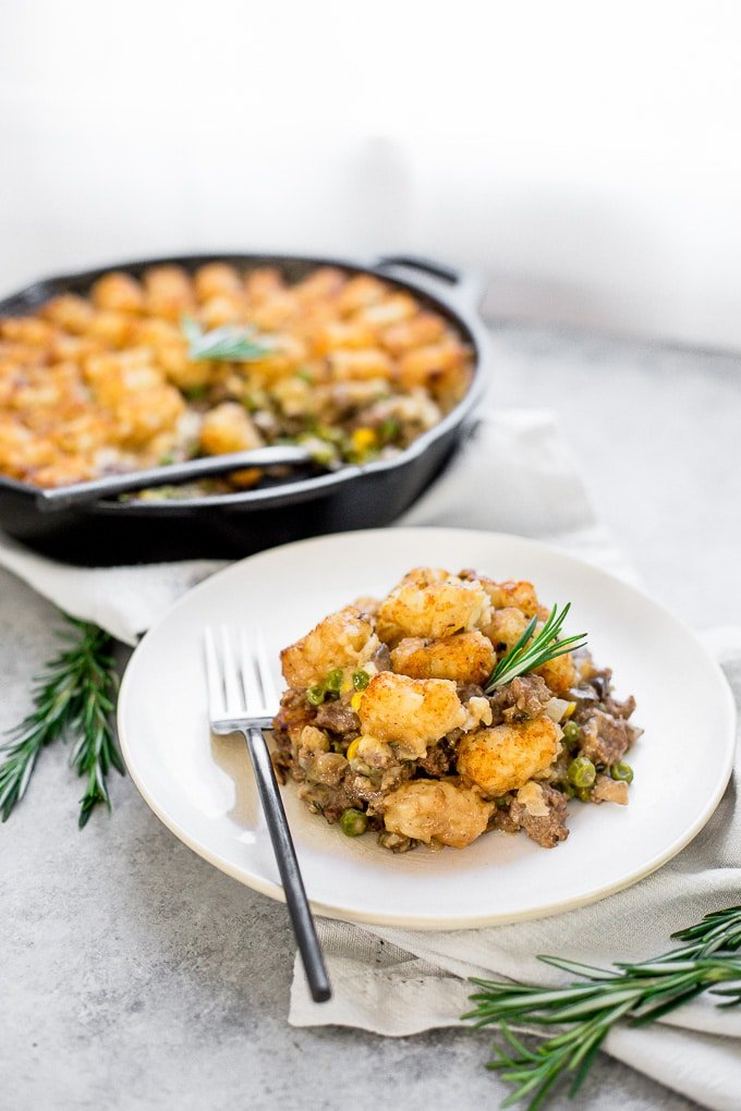 Tater Tot Casserole is a classic dish for busy weeknights and potluck dinners, but this recipe takes it up a big, delicious notch by using a homemade sauce.