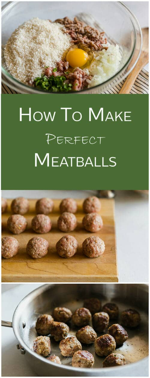 This is the best meatball recipe. Follow the easy steps and you'll be making perfect meatballs in no time.