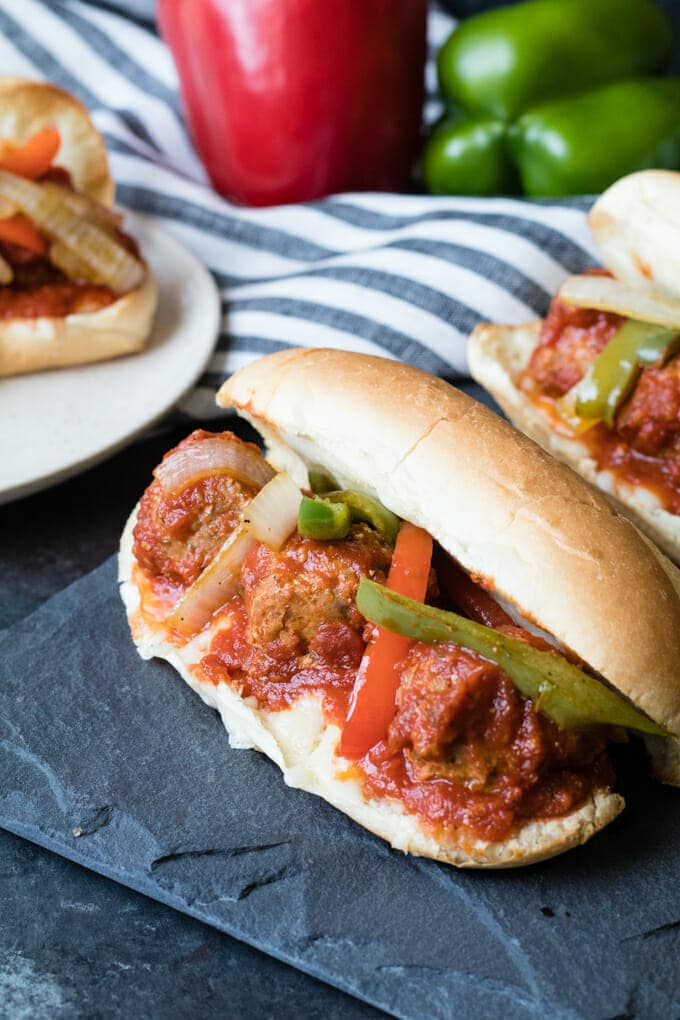 Meatball Subs are so much better with this simple hack and everyone will thank you for less mess.