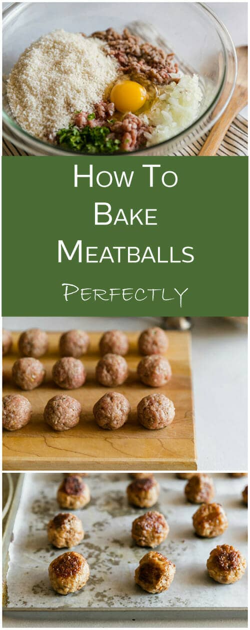 You'll love this little trick for making baked meatballs just as crispy and amazing as pan fried.