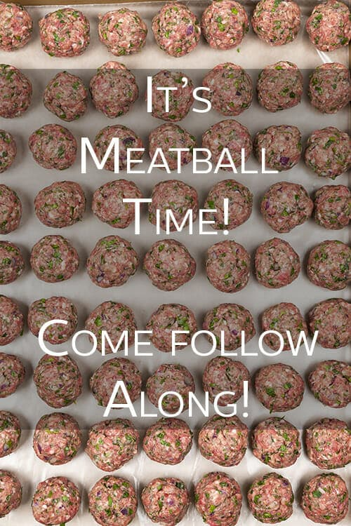 It's Meatball Time on The Cookful. That's right, our newest series, Meatballs, has begun. Come follow along and have a ball with us! Ha!