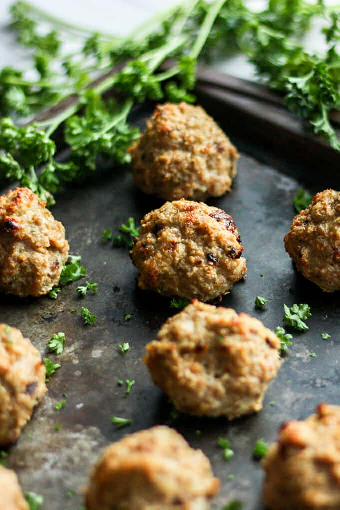 Trying to lighten up your favorite dishes? We're keeping it tasty with these turkey meatballs.