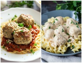 Italian Versus Swedish Meatballs