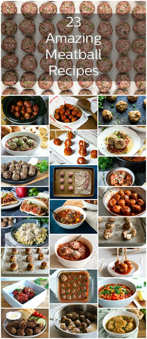 So many meatball recipes, so little time. These meatballs are seriously the best ones out there with everything from grape jelly meatballs to Ikea meatballs and more!