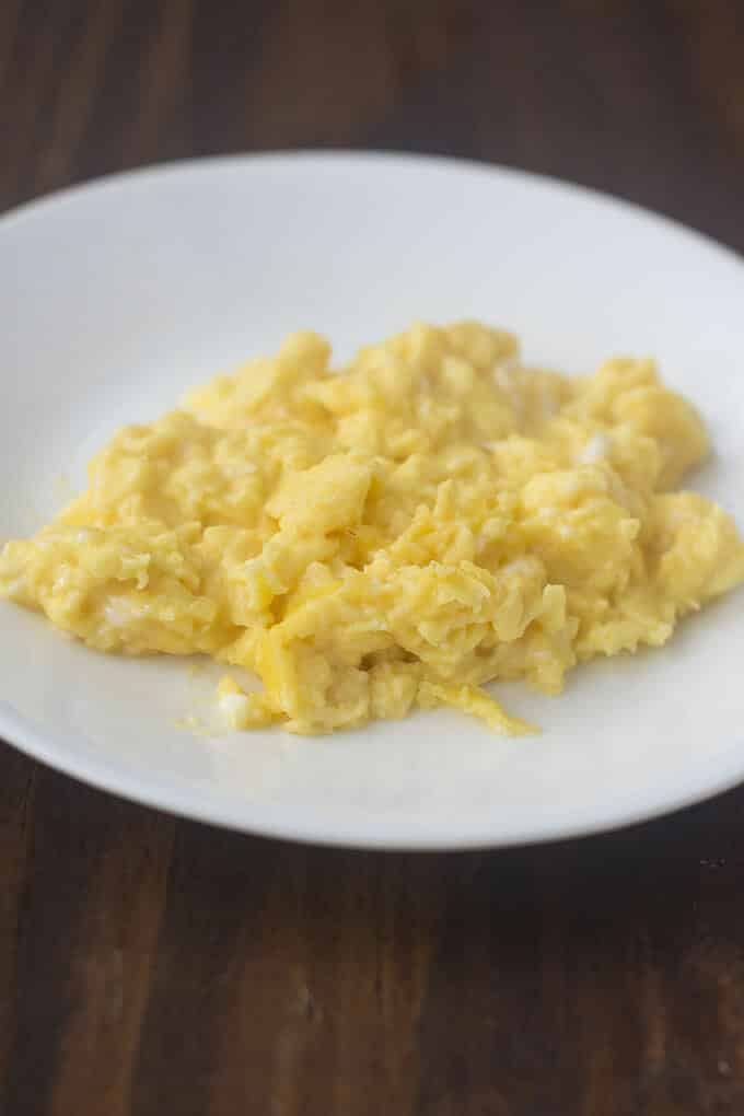 French-style scrambled eggs have a soft and creamy texture. They're easy to make and aren't that different in method from regular scrambled eggs.