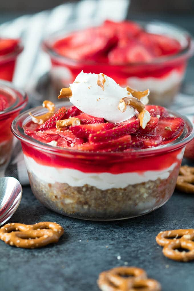 We're taking a classic Strawberry Pretzel Salad and changing things up a bit. You'll agree that it tastes even better this way.