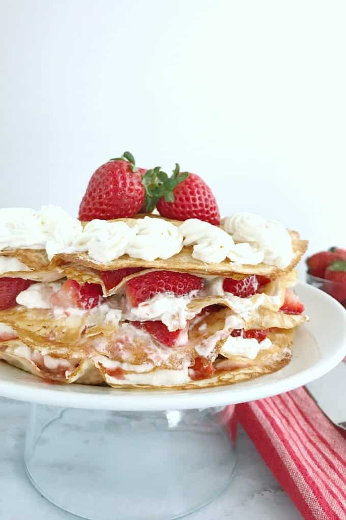 Strawberry Lasagna isn't just any old concoction of strawberries and cream, but a full luscious TOWER of strawberries and cream! Your guests will rave over this dessert.