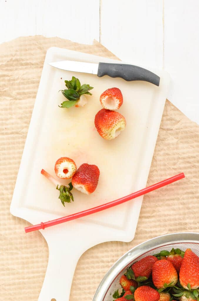 We all know how tedious it can be to hull strawberries, but no more. We're showing you how to hull them the easy way (with less waste).