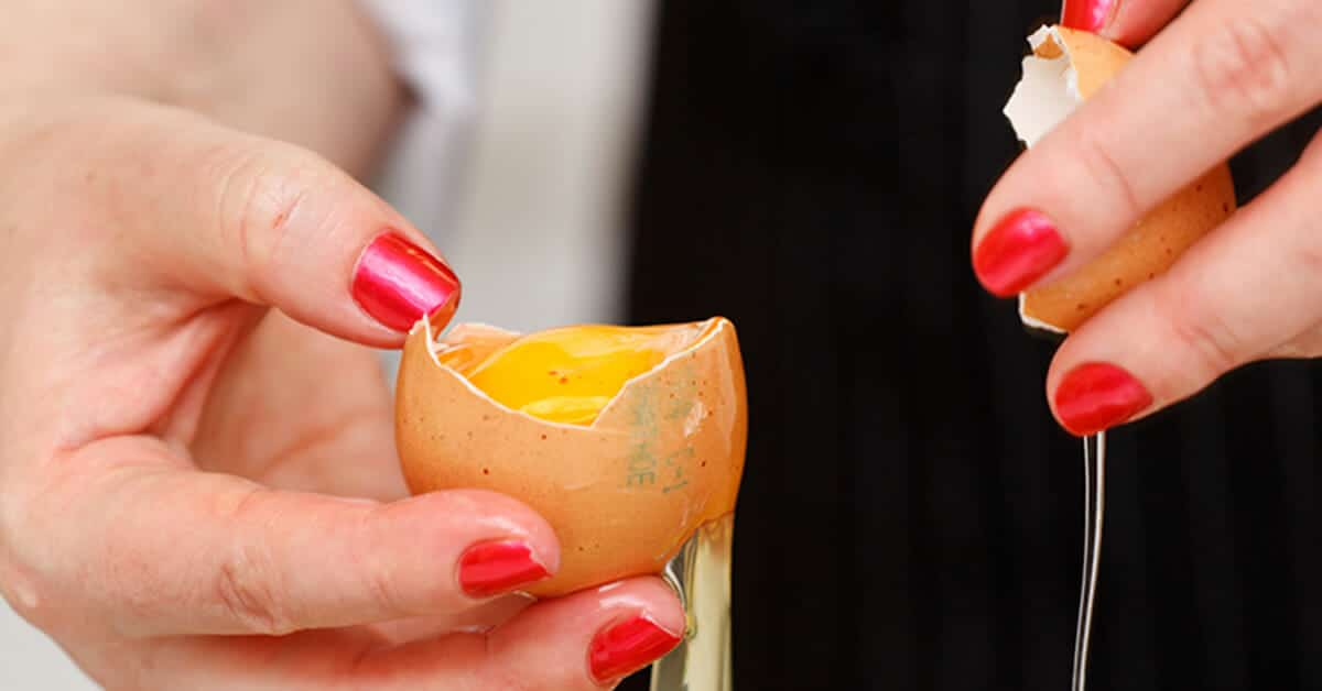 Here we have it! How to crack an egg without getting any shell in the bowl. Ever. Learn how here.
