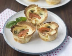Mini Quiches in Toast Cups